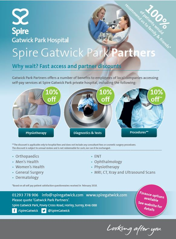 Spire Gatwick Park Hospital | Bupa Health Assessment